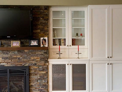 Toronto's Custom Built In Wall Unit