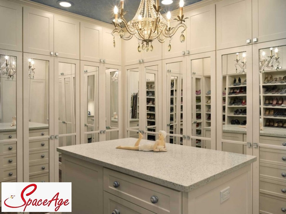 Built in closet cabinets with drawers - Illuminating Your Closets Space Age Closets