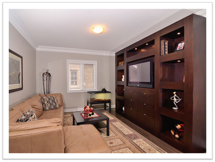 Custom Entertainment Unit by Space Age Closets