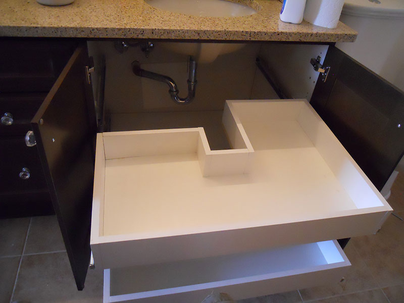 Custom Bathroom Cabinets & Drawer Glides