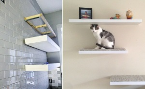 Proper Floating Shelves