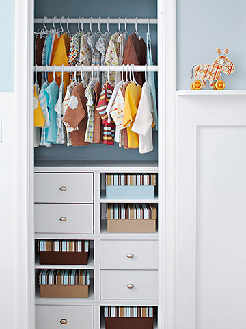Organizing Child's Closet