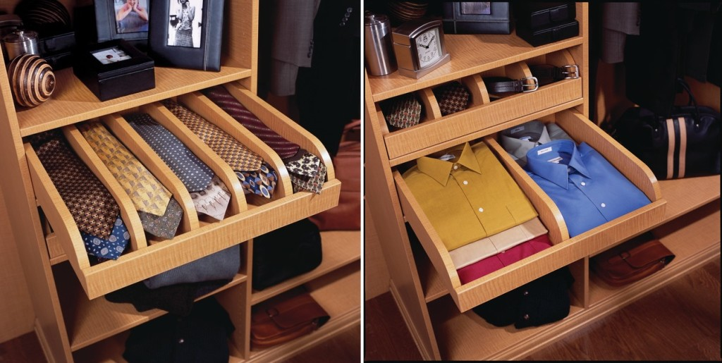 Ties & Shirts Pull-Out Drawers