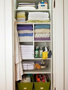 linen closet- divided closet