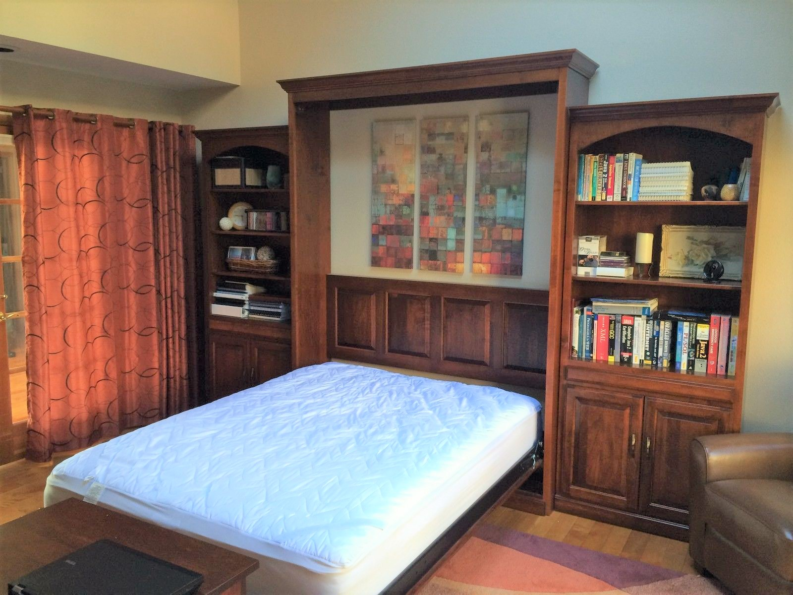 twin beds bed desk combo with a hideaway in murphy cabinet couch attached