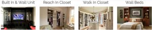 Image Of Buit In Wall Unit, Walk In Closets & Reach In Closets