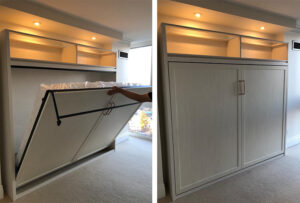 Modern murphy beds installed by Space Age Closets in Toronto, ON