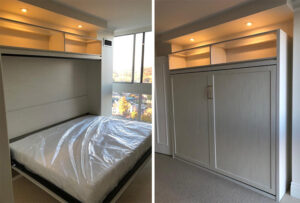 Custom murphy wall beds by Space Age Closets
